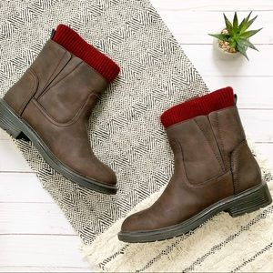 Tommy Hilfiger Sock Hiking Ankle Boots Size 7.5